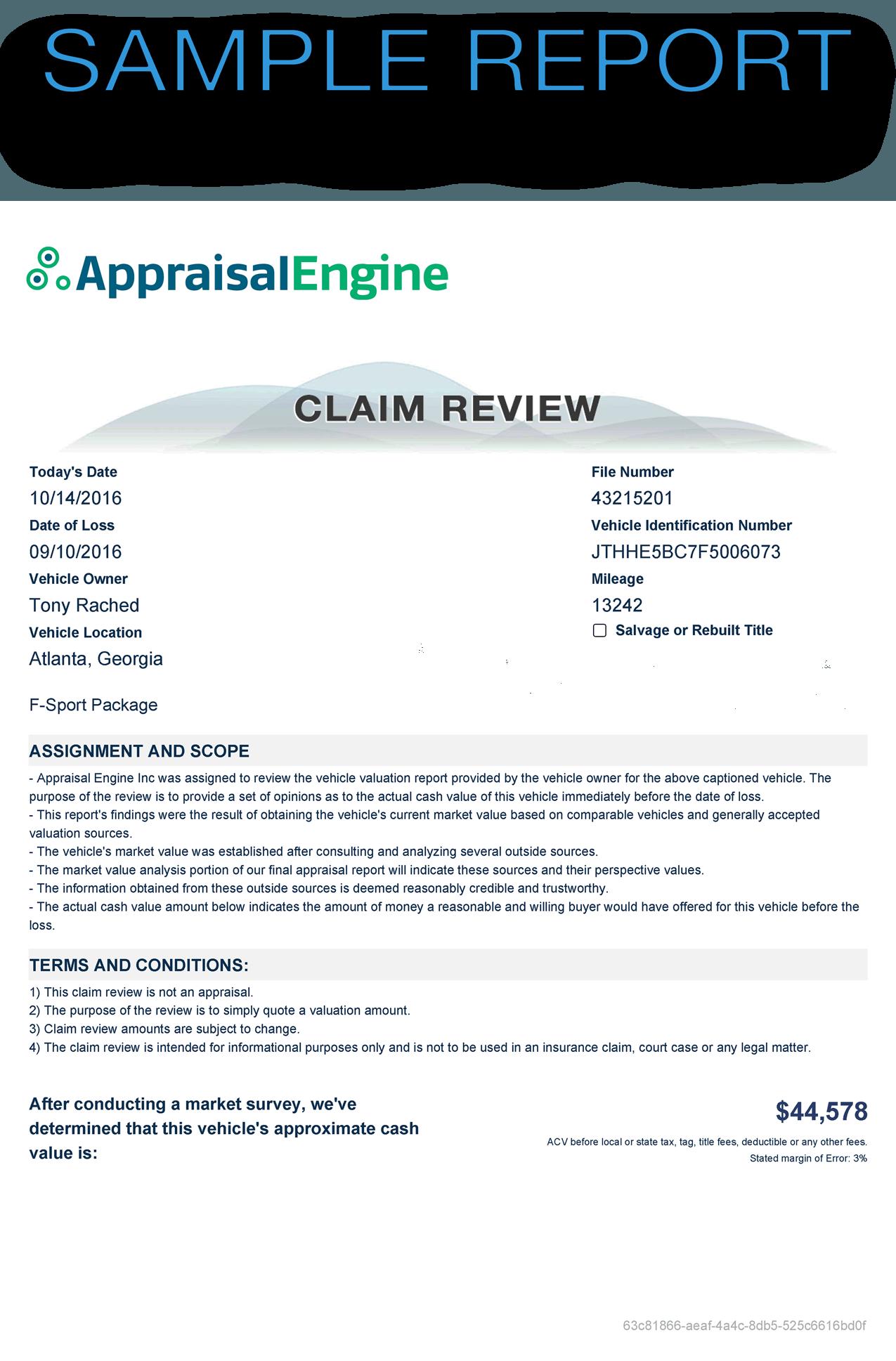 claim-review-sample-car-value-report