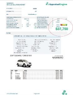 vehicle valuation reports total loss appraisals. Black Bedroom Furniture Sets. Home Design Ideas